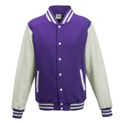 College jakke - Varsity - Lilla / hvit