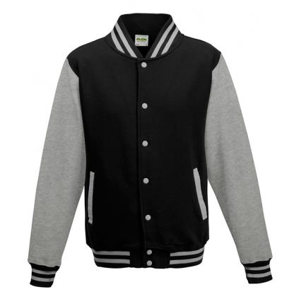 College jakke - Varsity - Sort / Grå