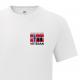 T-skjorte - Veteran - I tjeneste for Norge - Hvit - Bomull