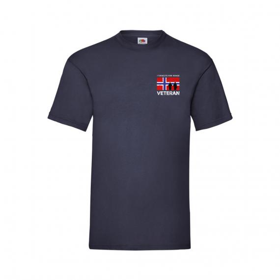 T-skjorte - Veteran - I tjeneste for Norge - Marineblå - Bomull