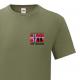 T-skjorte - Veteran - I tjeneste for Norge - Oliven - Bomull