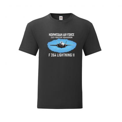 T-skjorte - F35 - Norwegian Air Force - Valgfri farge - Himmel