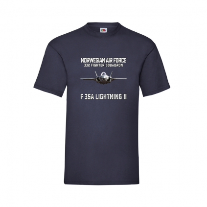 T-skjorte - F35 - Norwegian Air Force - Valgfri farge