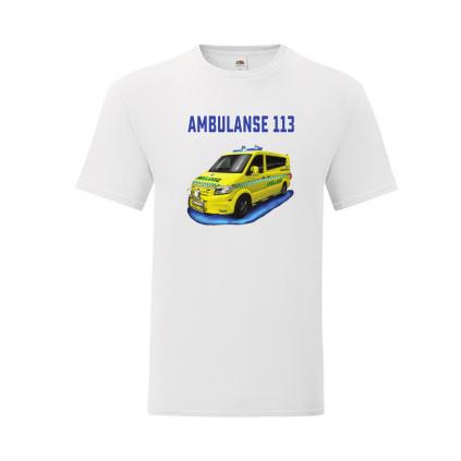 T-skjorte - Barn - Ambulanse - Valgfri farge