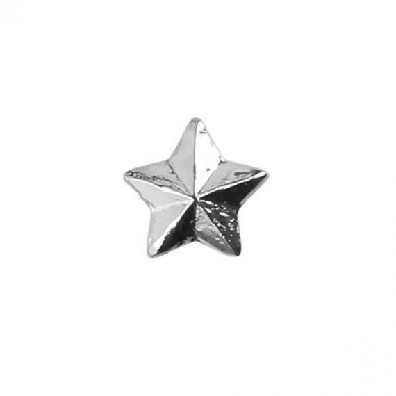 Stjerne - Sølv - 4,8 mm