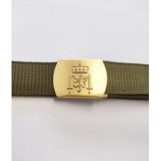 Belte - Hæren - Forsvaret - Gullspenne - Grønt - 110 cm