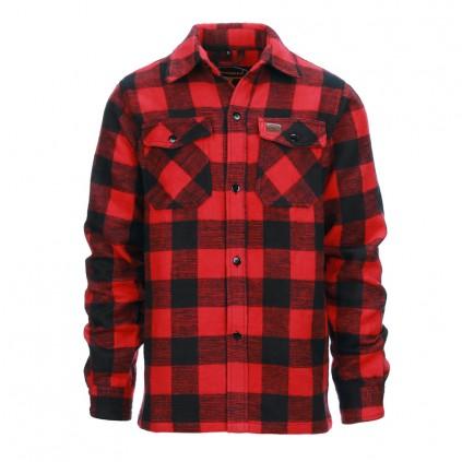 Lumberjack jakke - Flanel skjorte - Sort / Rød - Longhorn
