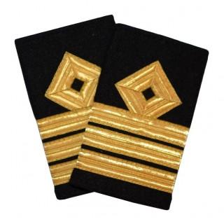Overstyrmann - Skipsfart dekk - 3 striper - Distinksjoner