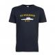 T-skjorte - KV SVALBARD - Marineblå - Bomull