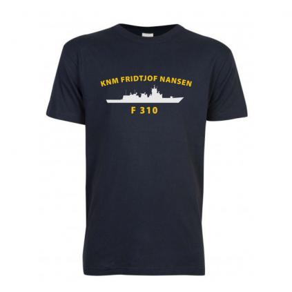 T-skjorte - KNM FRIDTJOF NANSEN - Marineblå - Bomull