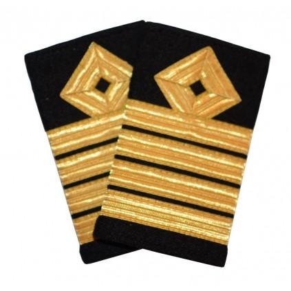 Kaptein - Skipsfart dekk - 4 striper - Distinksjoner