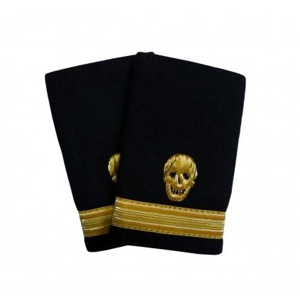 Pirat - Dødningshode og 1 gullstripe - Distinksjoner