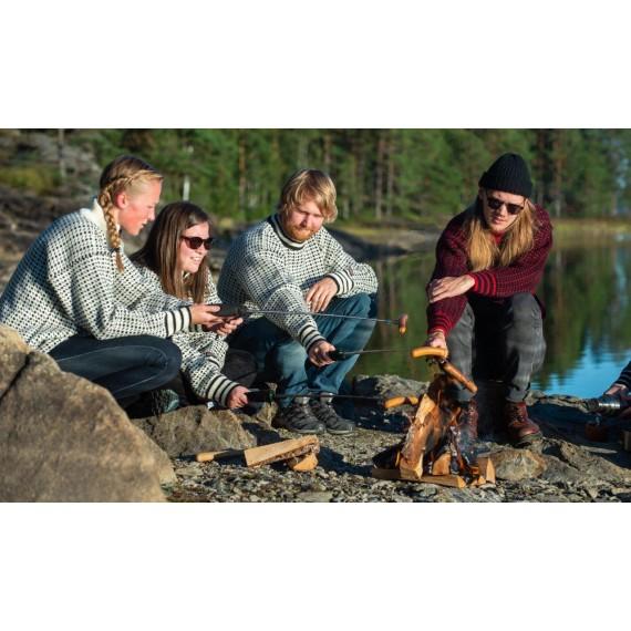 Islender m/ glidelås - Ullgenser 100% ull - Bråtens