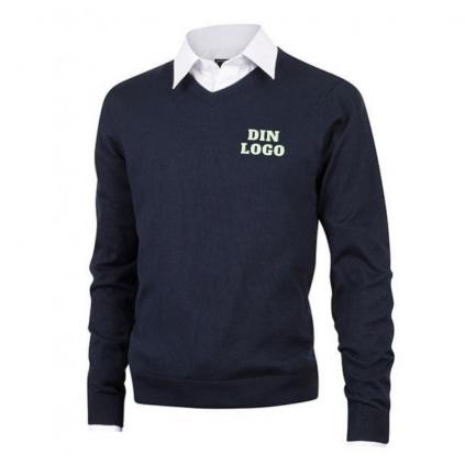 V-hals genser - Profilering - Valgfri farge og trykk
