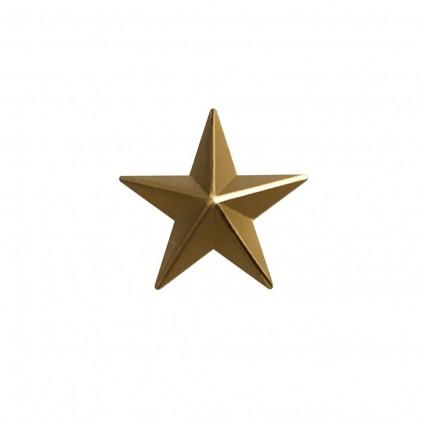 Stjerne - Gull - 18 mm matt