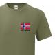 T-skjorte - Veteran - I tjeneste for Norge - Enkel - Oliven - Bomull