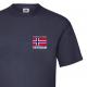 T-skjorte - Veteran - I tjeneste for Norge - Enkel - Marineblå - Bomull