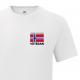 T-skjorte - Veteran - I tjeneste for Norge - Enkel - Hvit - Bomull