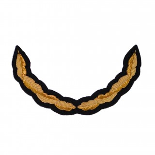 Luebroderi stort - Eikeløv gull