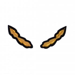 Luebroderi lite - Eikeløv gull