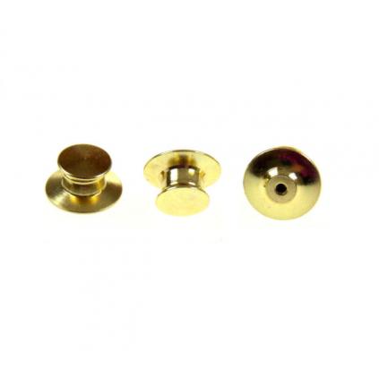 Lås/bakside til pins - Flat uten skarpe kanter