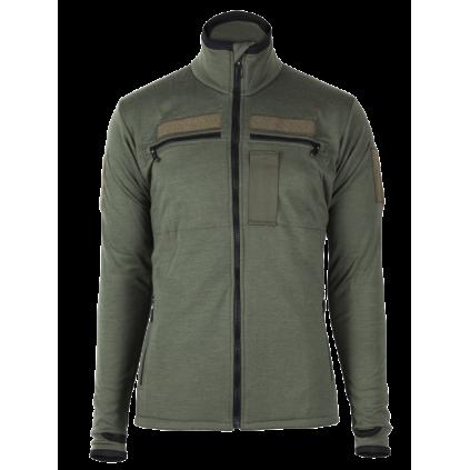 Arctic zip polo shirt w/thumbfingergrip - Brynje - Svart