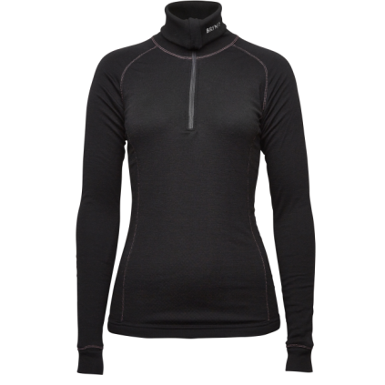 Lady arctic zip polo shirt - Brynje - Svart