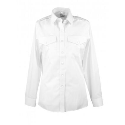 Skjorte med lang erm - Dame - Selje - Hvit