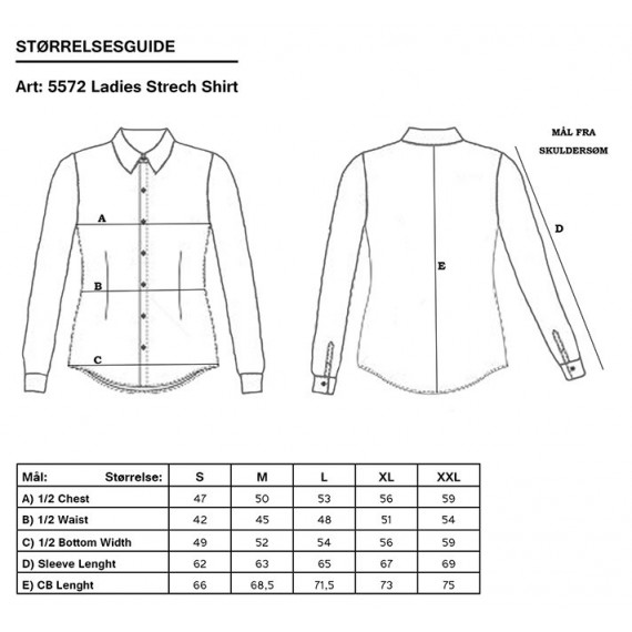 Skjorte stretch dame - Tracker - Svart