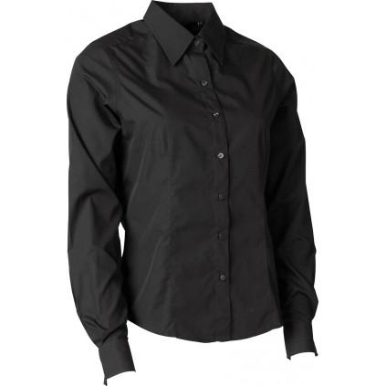 Skjorte basic dame - Regular fit - Tracker - Svart