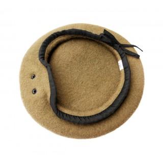 Beret - 100 % ull - Hufa - Sandfarget/Kaki