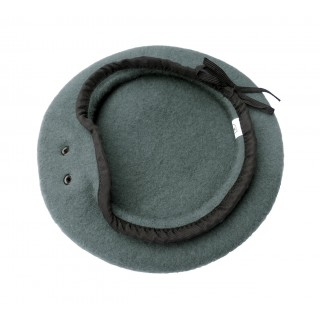 Beret - 100 % ull - Hufa - Mellomgrå/lys grå