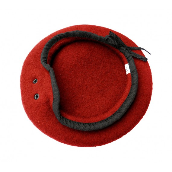 Beret - 100 % ull - Hufa - Rød