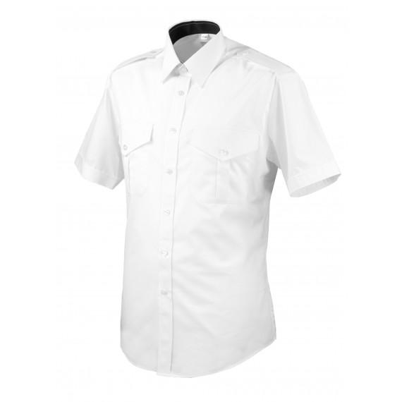 Skjorte med kort erm og slitekant - Selje - Hvit