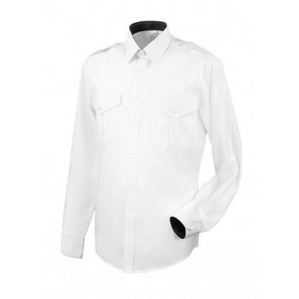 Skjorte med lang erm og slitekant - Selje - Hvit