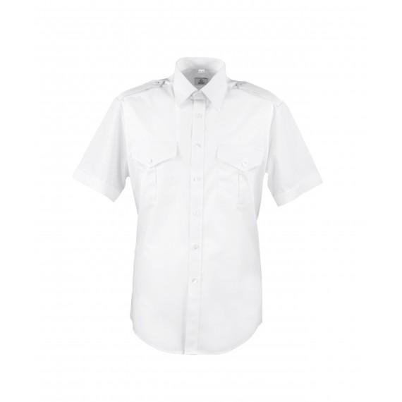 Barneskjorte kort erm - Selje - Hvit