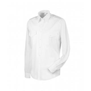 Barneskjorte lang erm - Selje - Hvit