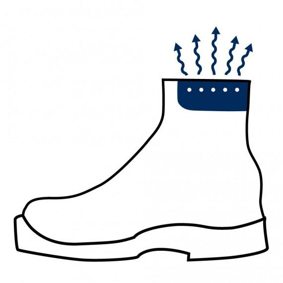 Haix klima-system fører luft ut av skoen for hvert steg du tar