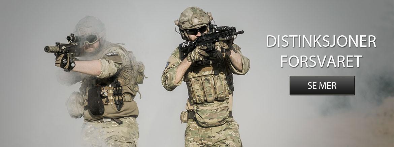 Distinksjoner Forsvaret Hæren Sjøforsvaret Heimevernet Luftforsvaret